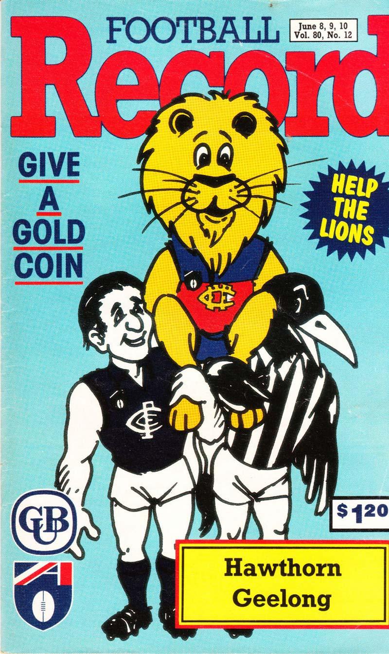 Fitzroy Lions AFL 1991