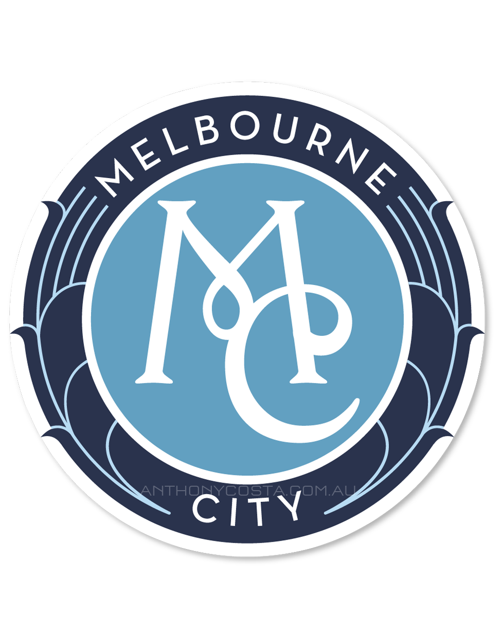 Melbourne City football logo design