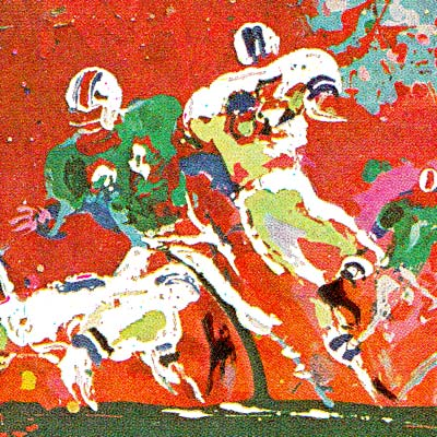 LeRoy Neiman at the Super Bowl