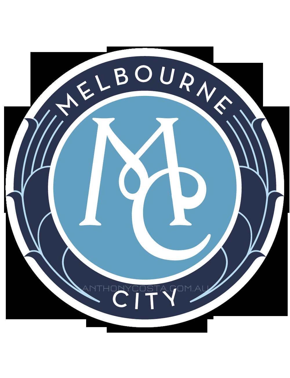 Melbourne City football logo design